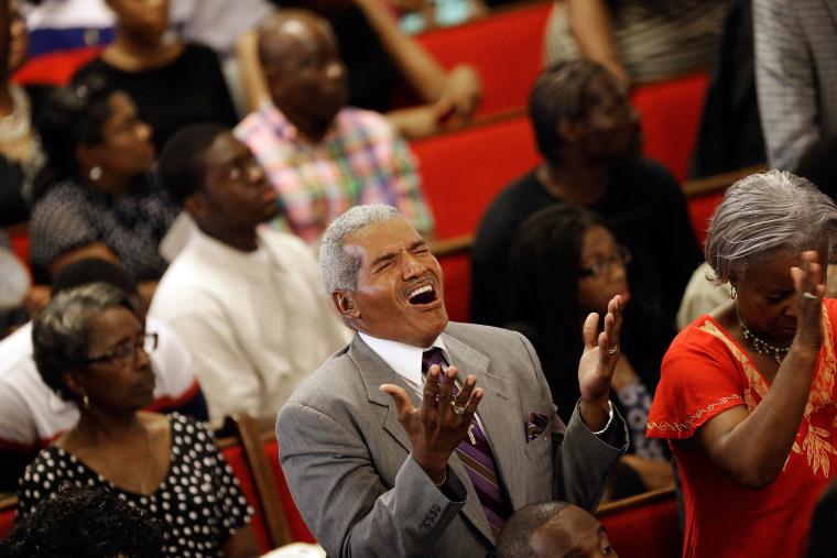 Image: Parishioners sing at the Emanuel A.M.E. Church