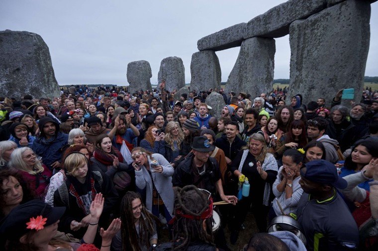 Image: The summer solstice festival dates back thousands of years.