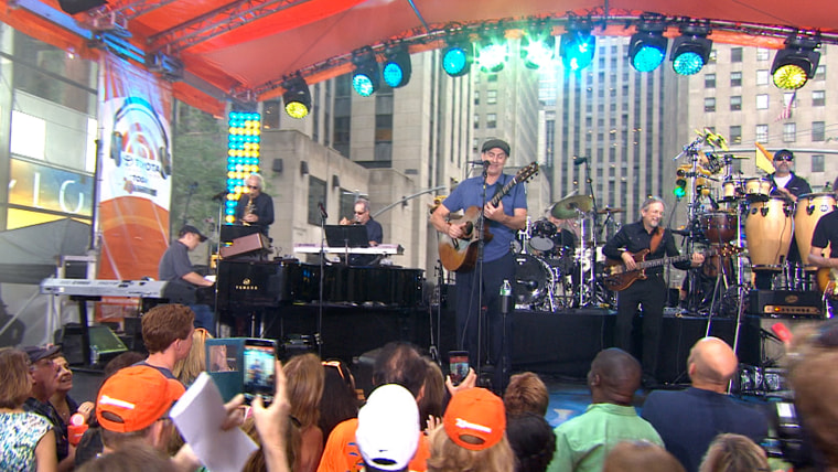 James Taylor performs on TODAY, June 15, 2015