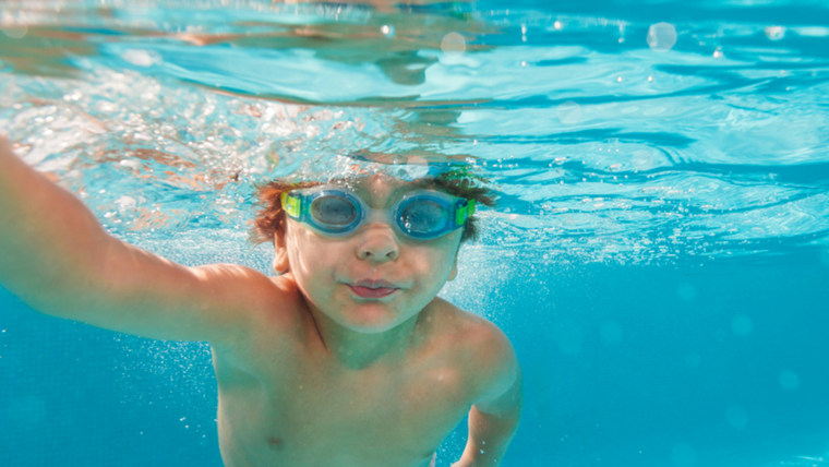 Child in pool