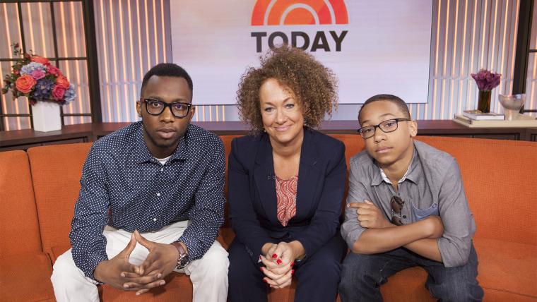 Rachel Dolezal and her sons.