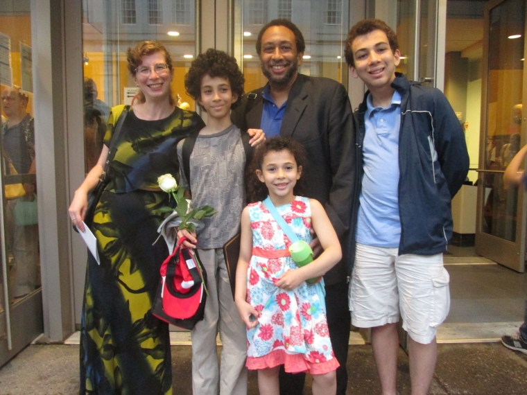 The author with her husband and three children.