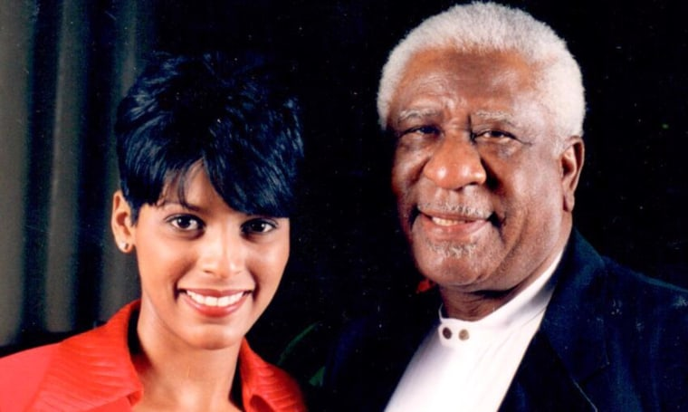 Tamron Hall and her dad