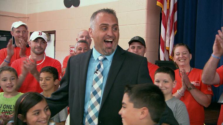 Matt Lauer surprises school principal