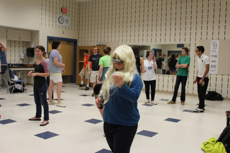 """Katie Dorman has been known to transform from a student at Connecticut's Suffield High School into """"Katy Gaga,"""" whom Lady Gaga hailed on Twitter as """"the best"""" for her """"bravery."""""""