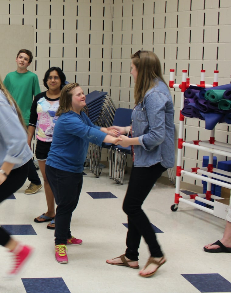 Living with Down syndrome, Katie Dorman is an active member of the unified theater program at Suffield High School in Connecticut.
