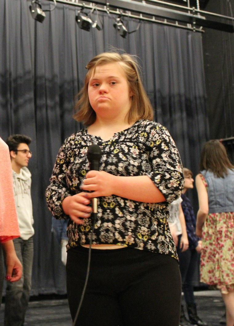 """Living with Down syndrome, Katie Dorman is mostly non-verbal but """"lights up"""" whenever she hears Lady Gaga, according to her mother, Pam Dorman."""