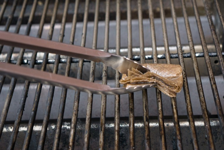 Oiling a grill