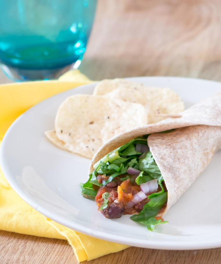 Sweet potato and black bean slow-cooker tacos
