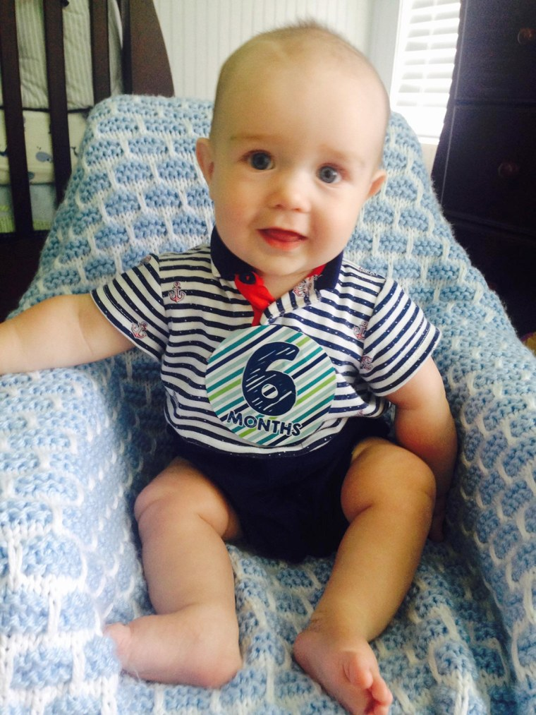 Baby Nolan on his 6 month birthday