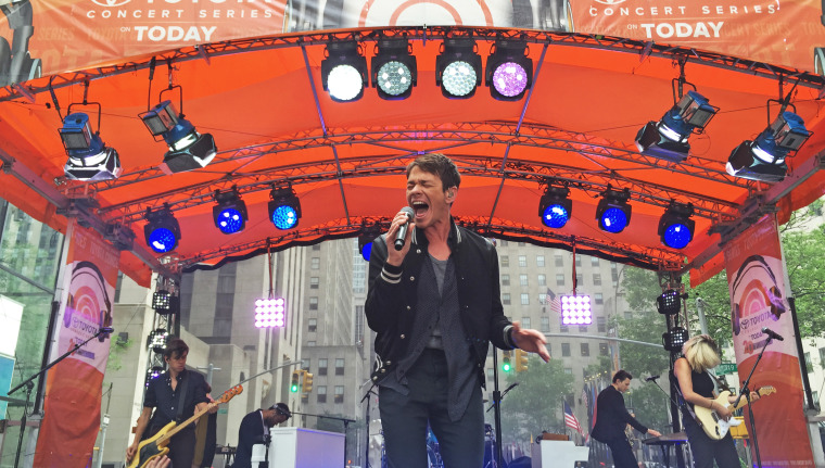 Nate Ruess performs live on the TODAY Show Plaza for the Toyota Summer Concert Series.