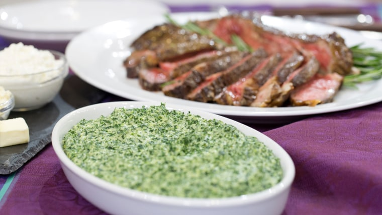 Al Roker and daughter Courtney make pepper-crusted ribeye and creamed kale