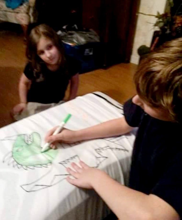 Santino Stagliano has hand-drawn over 650 dragons onto t-shirts that raise money for autism awareness