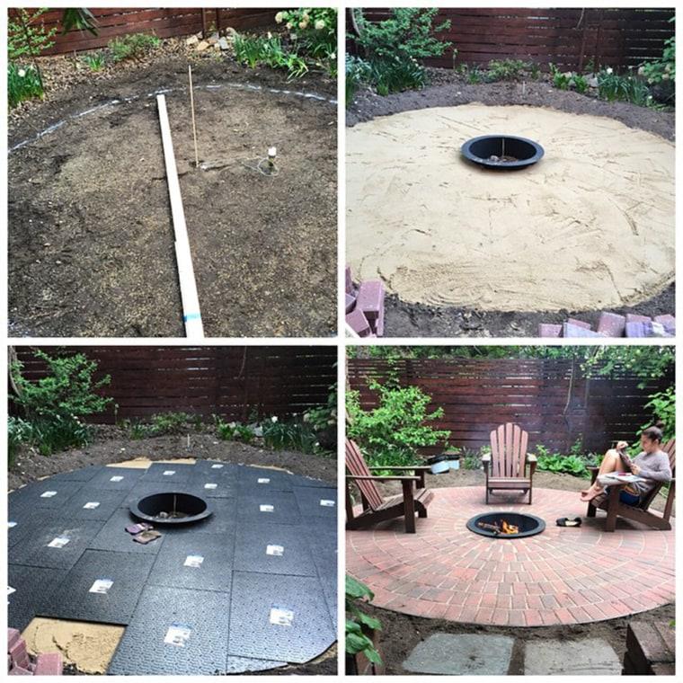 DIY Backyard Patio Process