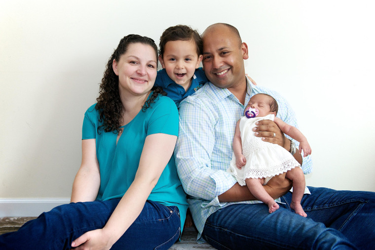 Manoj Abraham and his family.