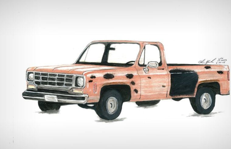 A multi-agency task force that formed to investigate recent shooting incidents in Northern Colorado released this sketch of a vehicle of interest.