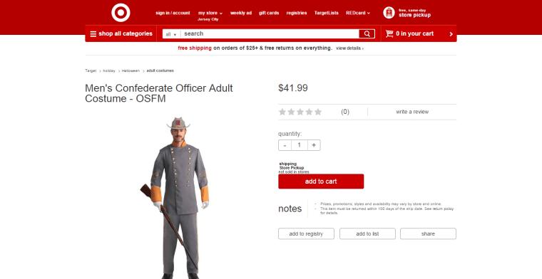A screengrab from Target's website via CNBC.com