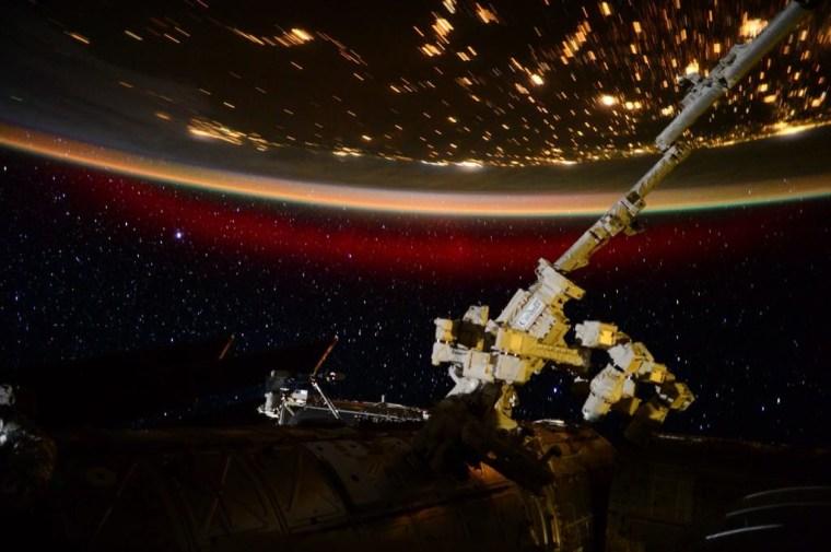 Scott Kelly Northern Lights NASA