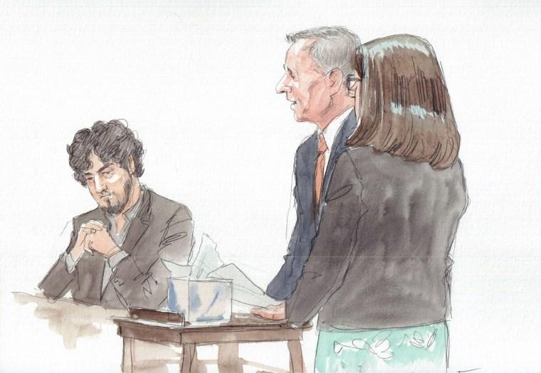 The parents of Martin Richard address the court during a sentencing hearing for Boston Marathon bomber Dhzokhar Tsarnaev on June 24.