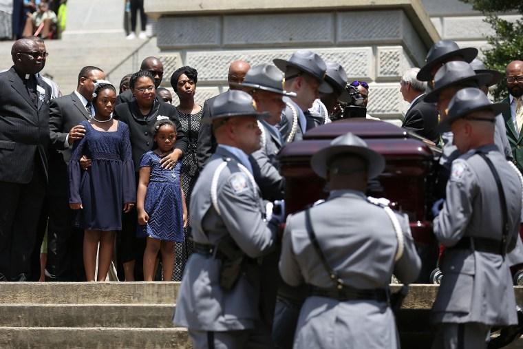 Image: Charleston Church Shooting Victim Sen. Pinckney Lies In Repose At South Carolina Capitol