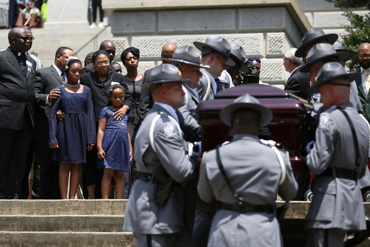 Image: Charleston Church Shooting Victim Sen. Pinckney Lies In Repose At South Carolina Capitol