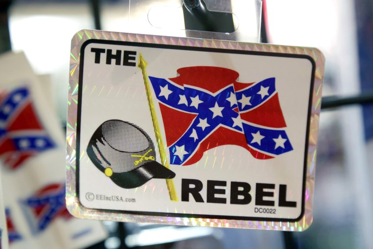 Image: Confederate flag themed stickers