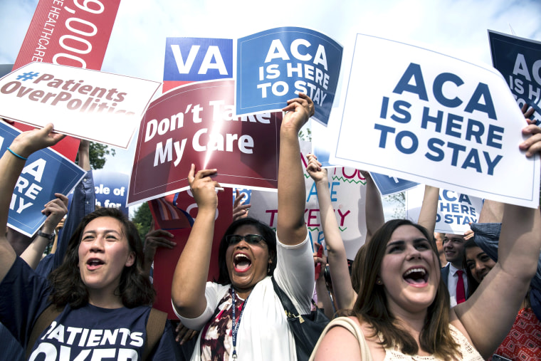 Image: Supporters of the Affordable Care Act celebrate