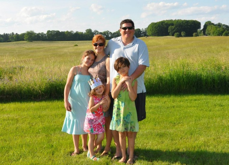 The Hegarty family in 2013: Christy and Boyd with Catie, 10; Lia, 7; and Molly, 4.