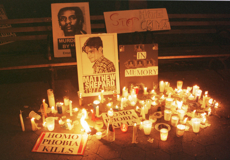 Image: Candlelight Vigil For Slain Gay Wyoming Student Matthew Shepard
