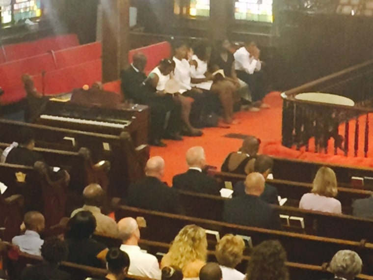 VP Biden attends Sunday church services at Emanuel AME.