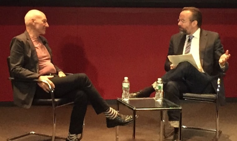 Patrick Stewart discussed his life and career with Esquire's Mark Warren during a June 22 Q&A in New York City.