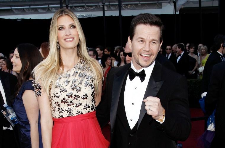 Mark Wahlberg with wife Rhea Durham