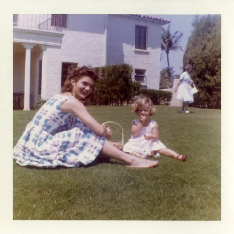 Featured among the released Kennedy family photos is matriarch Jacqueline Kennedy Onassis in repose.