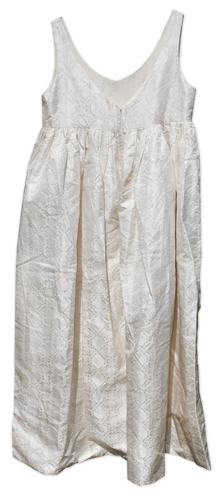 The first lady wore this maternity dress in 1960, when she was pregnant with John F. Kennedy Jr.