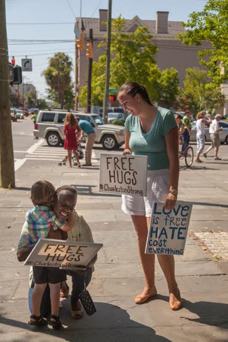 """Free Hugs #CharlestonStrong."""