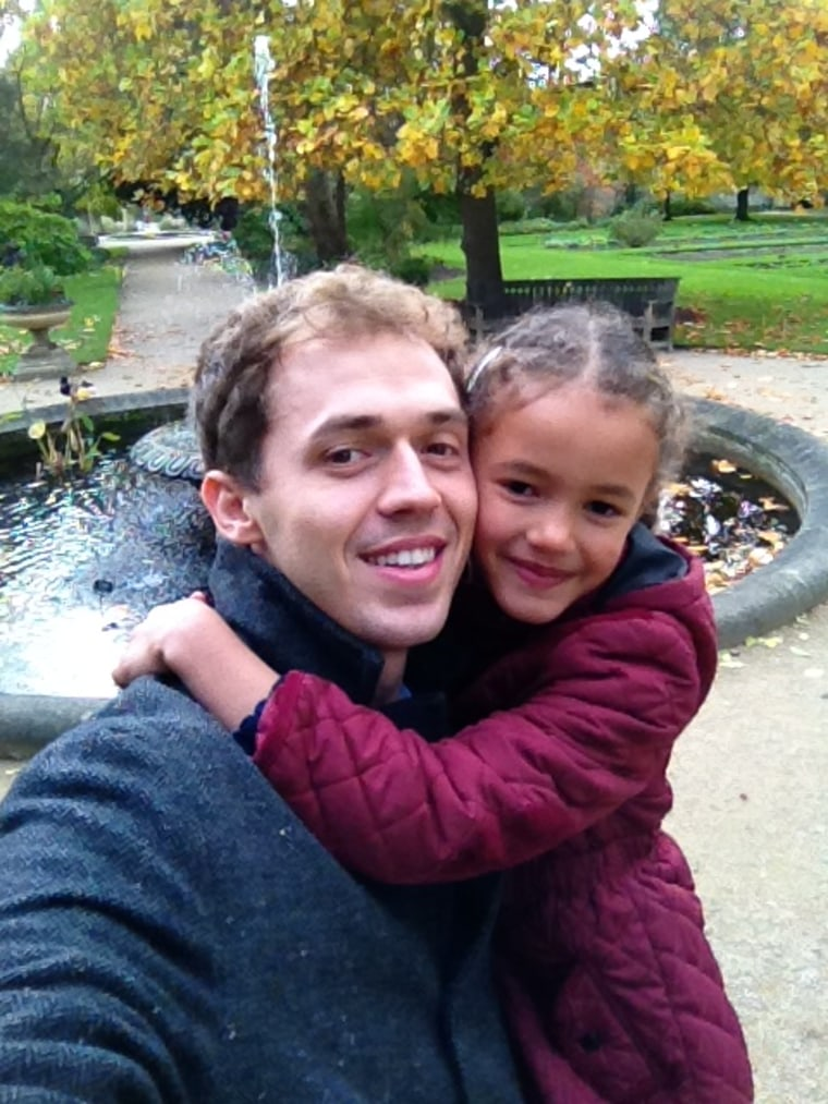 """As part of their """"39 Random Acts of Kindness"""" campaign, Lee Beck gave his daughter, Amélie, her own present as a way to honor her generosity."""