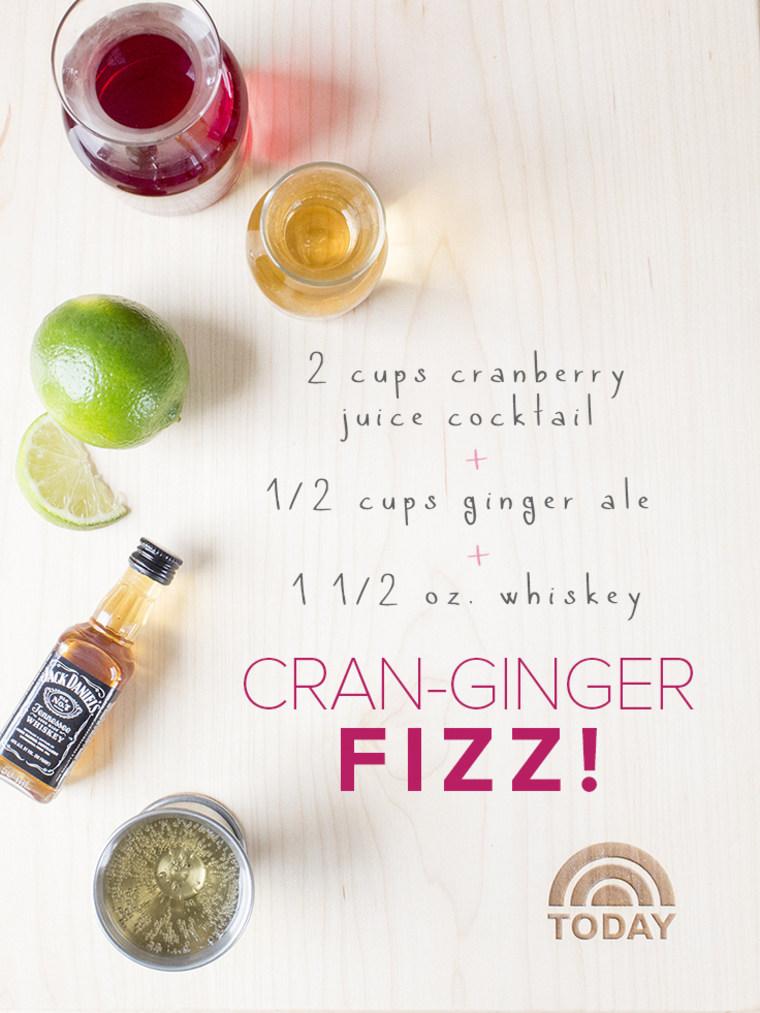 Cran-ginger fizz easy summer cocktail