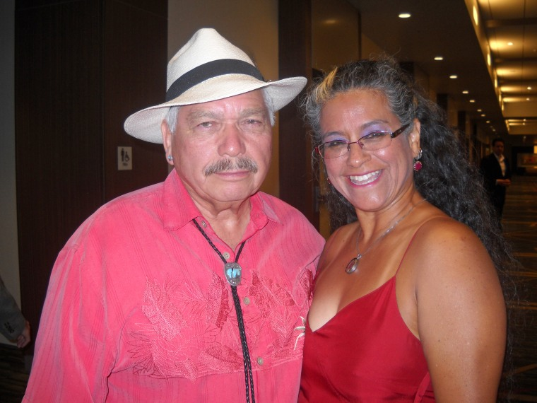 Authors Victor Villaseñor and Claudia Melendez pose at the 17th annual International Latino Book Awards in San Francisco on June 27.