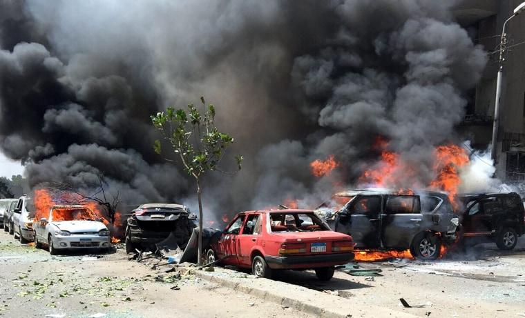 Image: Bombing targets convoy of Egyptian state prosecutor Hisham Barakat
