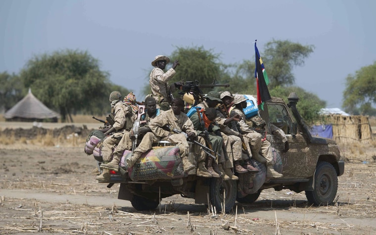 Image: South Sudanese government soldiers