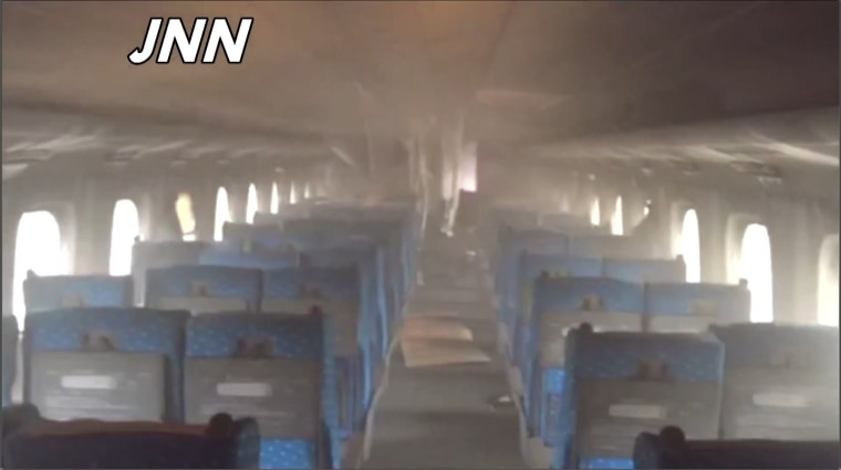 Image: Japan train fire incident