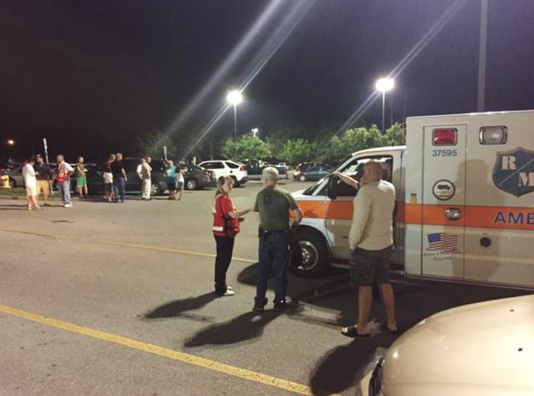 Image: An evacuation zone in a nearby mall