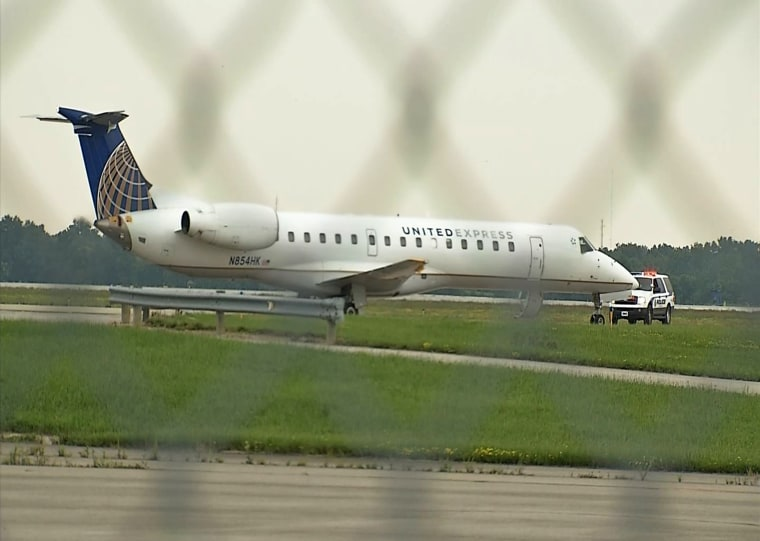 A plane landed at Port Columbus after an unruly passenger made threatening remarks, according to an airport spokesperson.