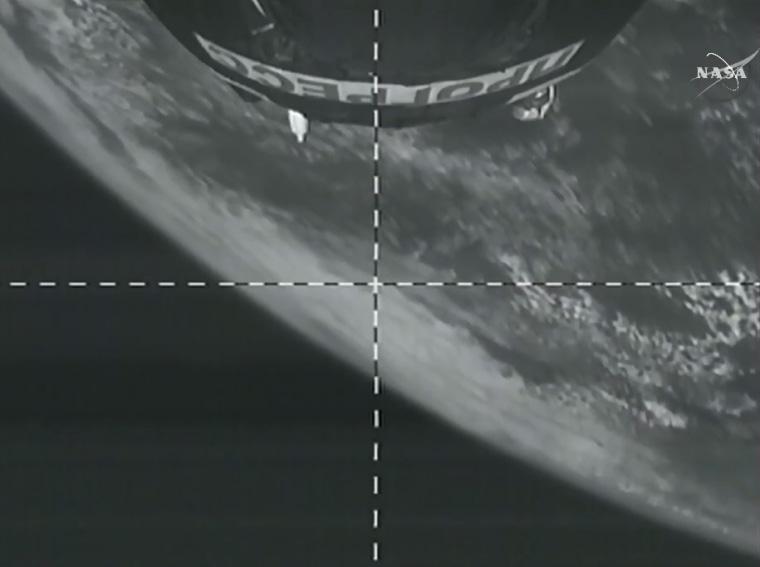 Image: Progress in orbit