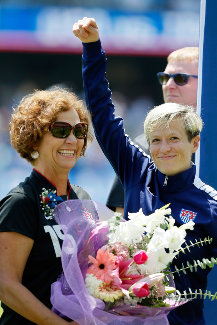 Image: Megan Rapinoe and her mother Denise