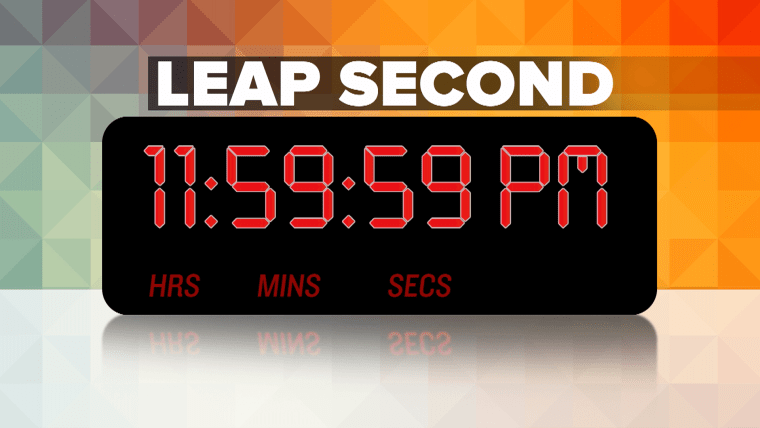 Slow down: You have an extra second today!
