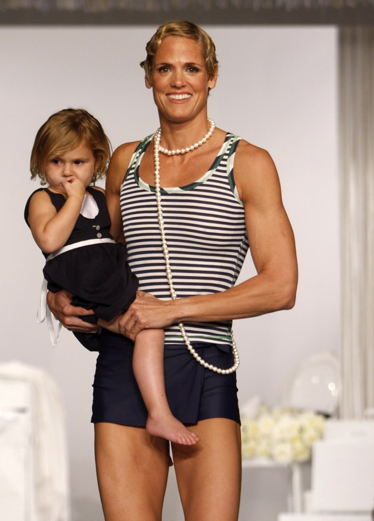 Dara Torres with daughter Tessa