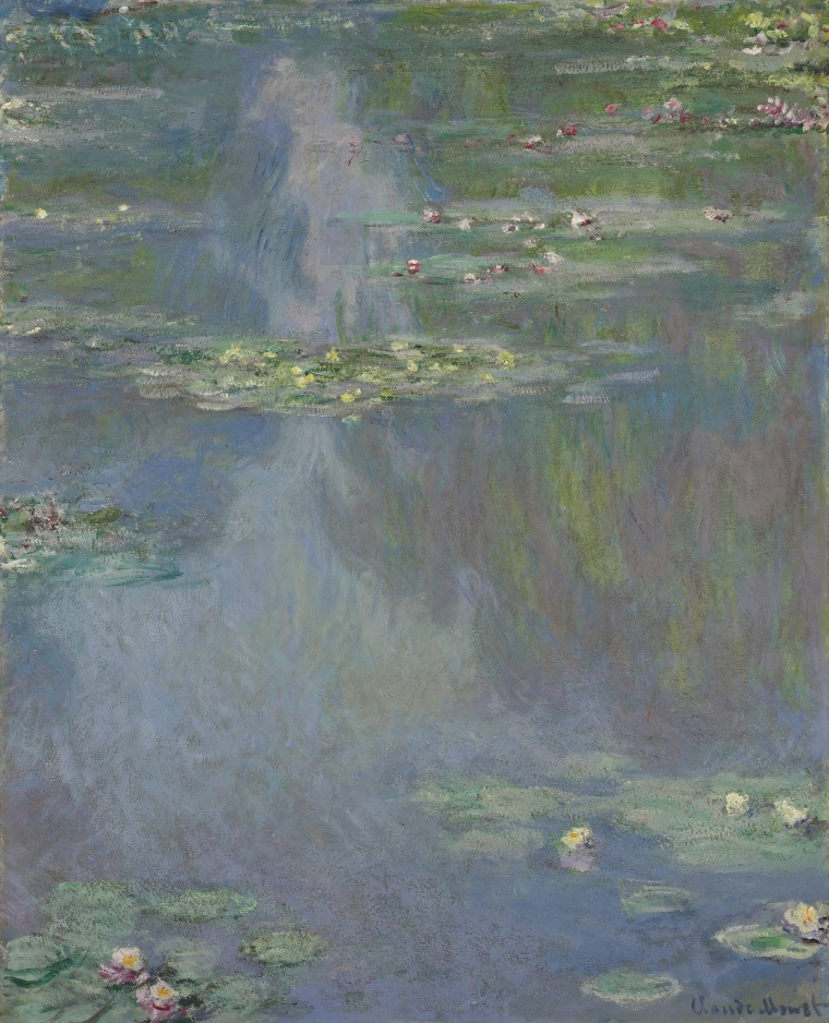 "Image: Work from Claude Monet's series of ""Nymphéas,"" or ""Water Lilies,"""