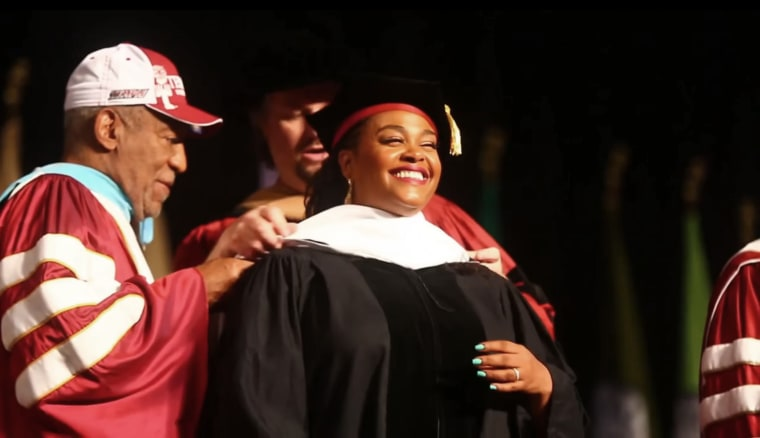Jill Scott receives an honorary degree from Temple University and Bill Cosby