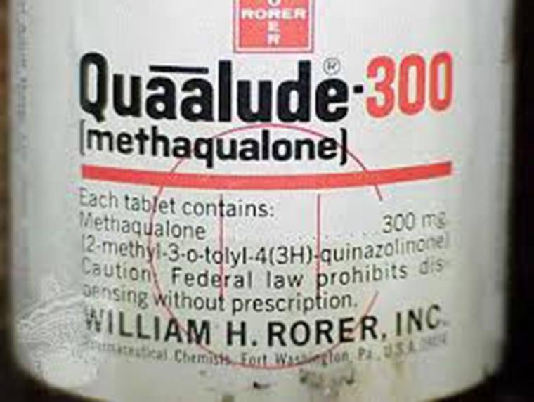 A Quaalude bottle.